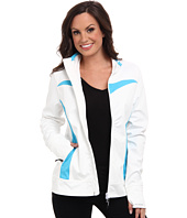 Roper - White Softshell Jacket w/ Pieced Turquoise