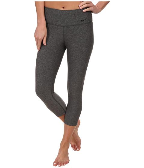 Nike - Legend 2.0 Tight Poly Capri (Charcoal Heather/Black) Women's Capri