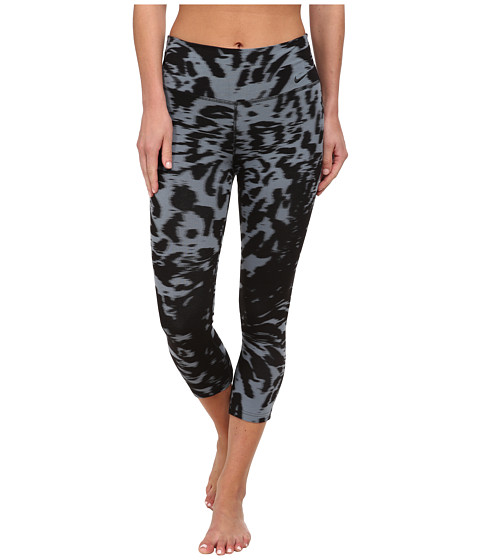 Nike - Legend Dri-FIT Cotton Filter Tight Pant (Blue Graphite/Black/Black) Women's Workout
