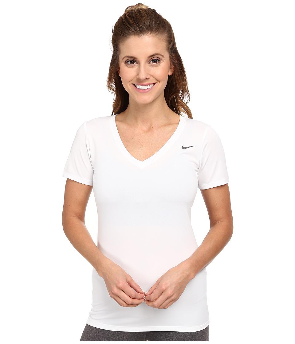 Nike - Legend 2.0 V-Neck Training Tee (White/White) Women