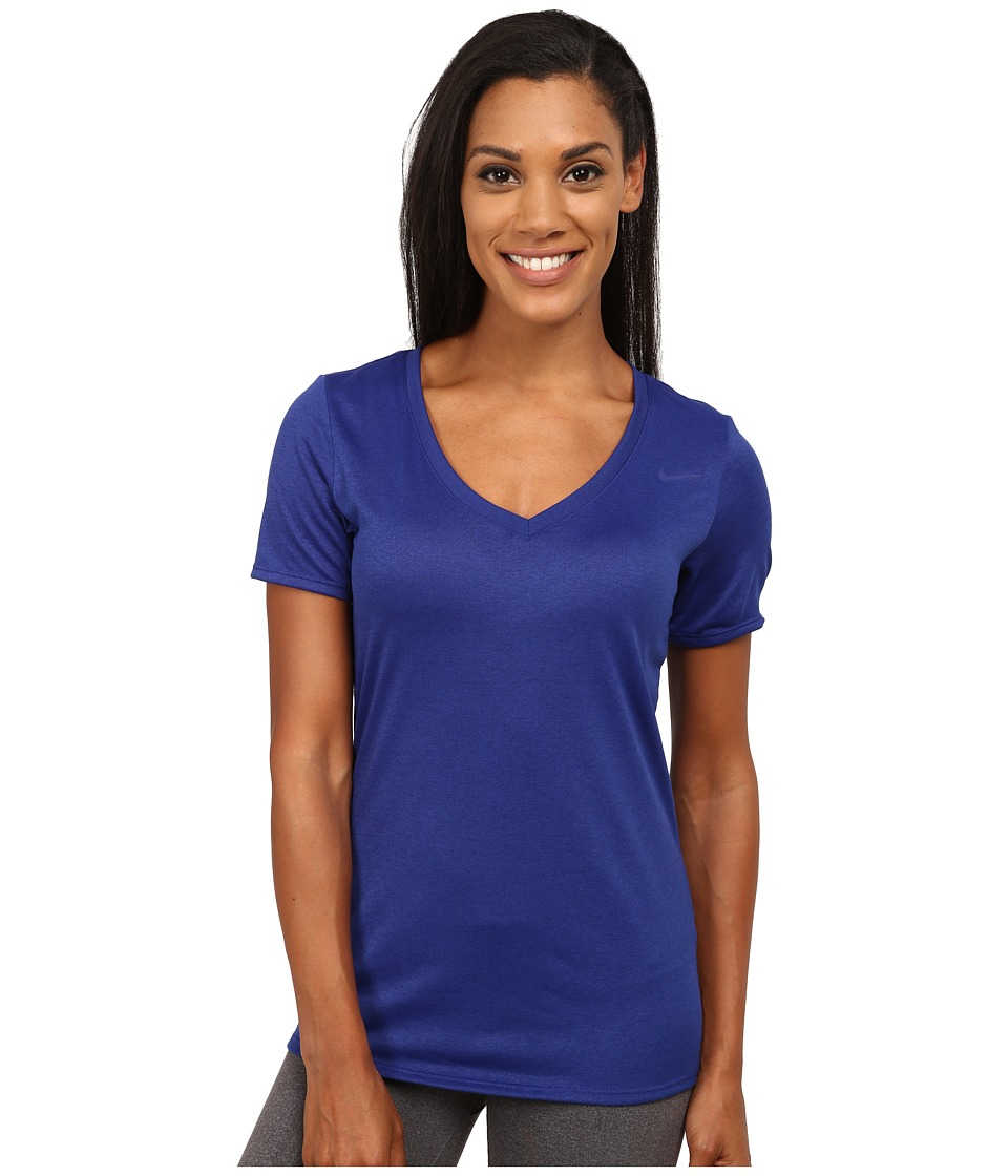 Nike - Legend 2.0 V-Neck Training Tee (Deep Royal Blue/Deep Royal Blue) Women
