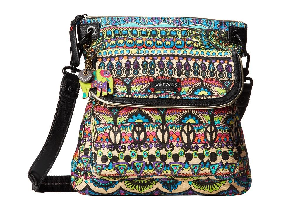 Sakroots - Artist Circle Flap Crossbody (Radiant One World) Cross Body Handbags