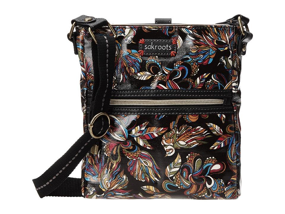 Sakroots Artist Circle Tablet Crossbody (Midnight Treehouse) Cross Body Handbags