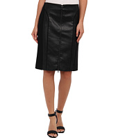 Adrianna Papell - Pencil Skirt w/ Faux Leather Combo