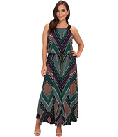 Calvin Klein Plus - Plus Size Print Maxi Dress w/ Stud