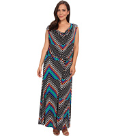 Calvin Klein Plus - Plus Size Print Cowl Neck Maxi Dress
