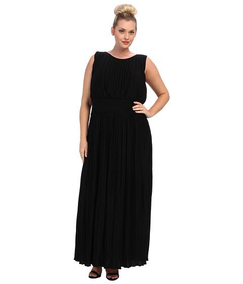 Calvin Klein Plus Plus Size Pleated Maxi Dress