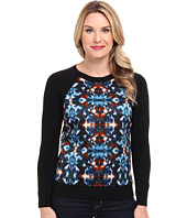 Adrianna Papell - Ikat Printed Jacquard Pullover Sweater