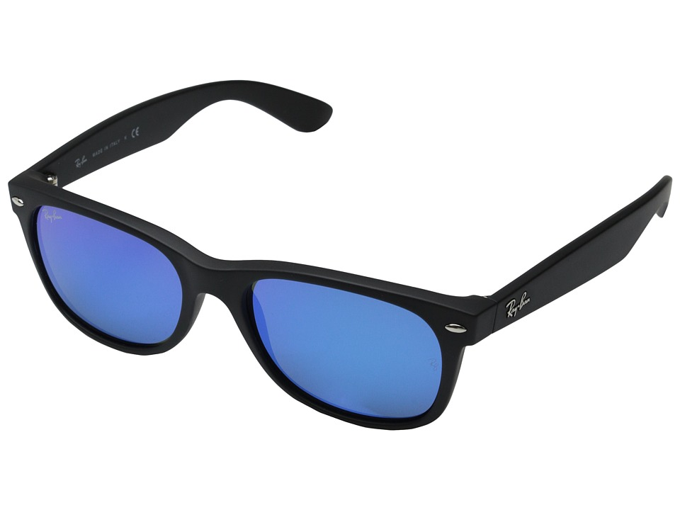 Ray-Ban - RB2132 New Wayfarer 55mm (Rubber Black) Fashion Sunglasses