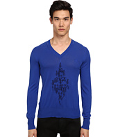 Vivienne Westwood MAN - Diamond Embroidered V-Neck Sweater