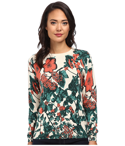 Lacoste L!VE Long Sleeve Floral Print Sweater