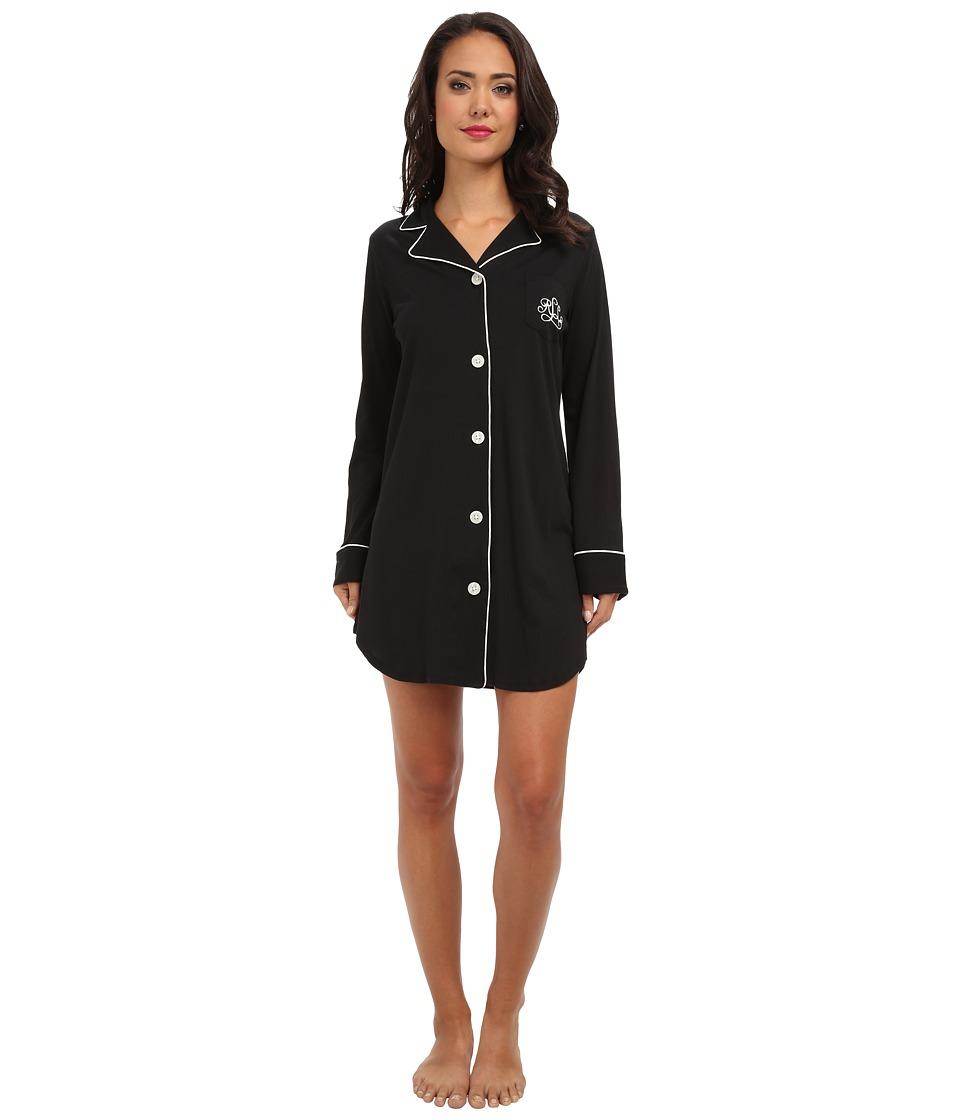 LAUREN Ralph Lauren - Hammond Knits Sleepshirt (Black) Womens Pajama
