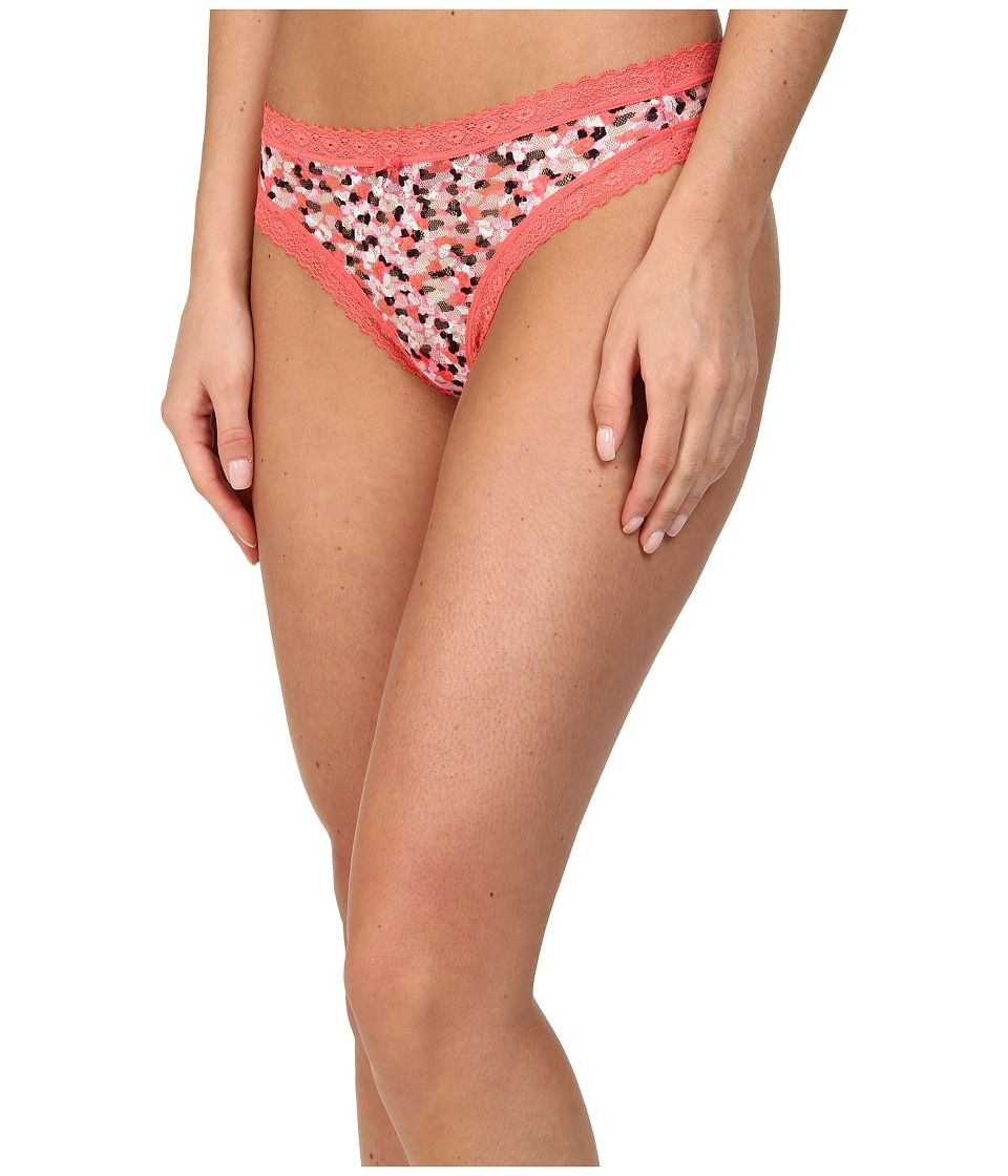 DKNY Intimates Signature Lace Thong 576000 (Candy Heart/Lip Gloss) Women's Underwear