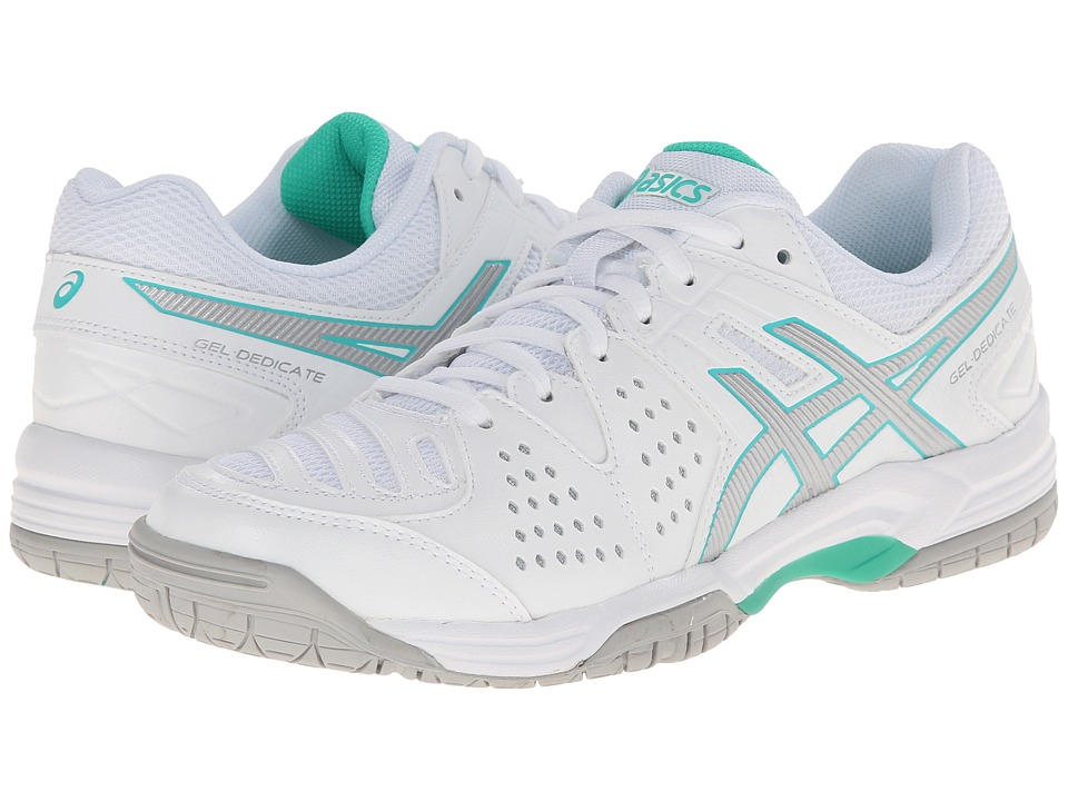 ASICS - Gel-Dedicate 4 (White/Silver/Mint) Women