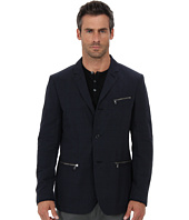 John Varvatos Star U.S.A. - Four Button Roll to Two Button Notch w/ Zipper Pockets JVS1050B