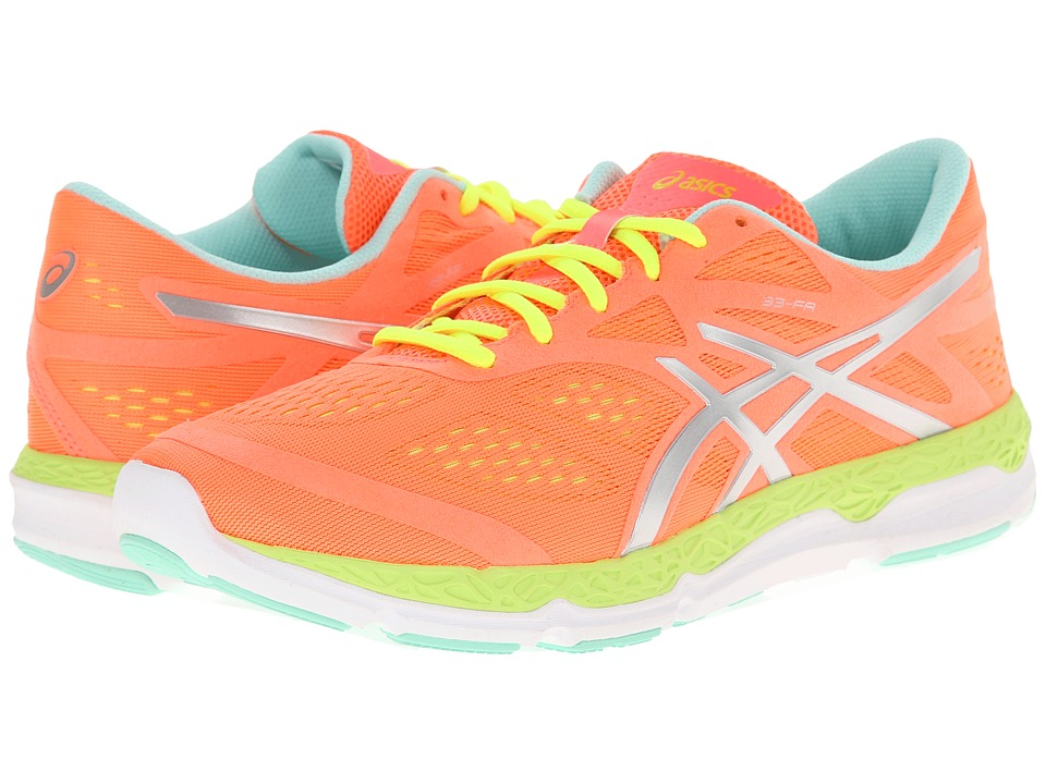 ASICS 33 FA Coral/Flash Yellow/Mint Womens Running Shoes