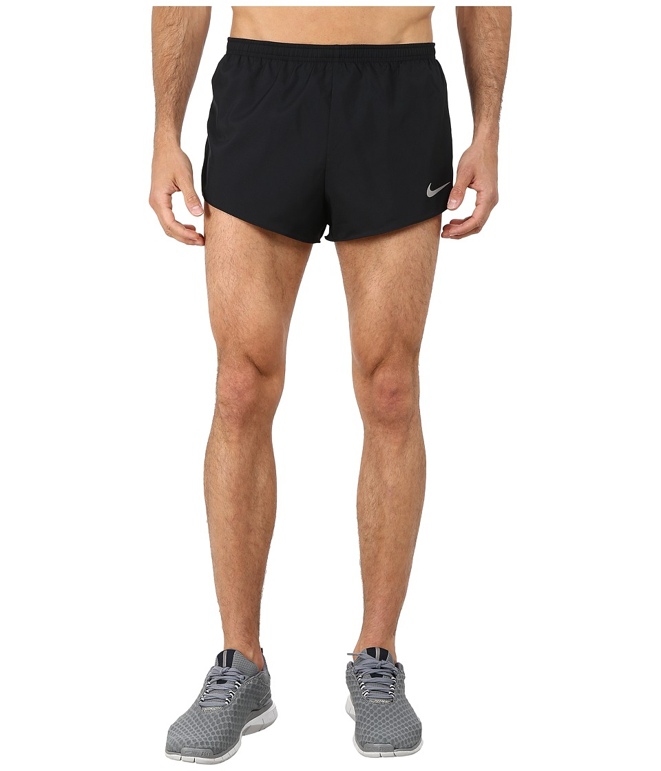 Nike 2 Racer Short Black/Anthracite/Volt/Reflective Silver Mens Shorts