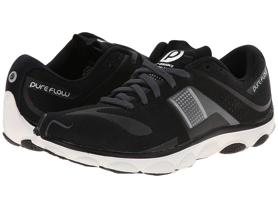 Brooks - PureFlow 4 (Black/Anthracite) Women's Running Shoes