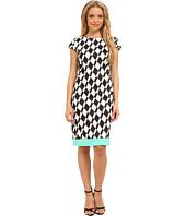 Christin Michaels - Printed Ponte Cap Sleeve Dress