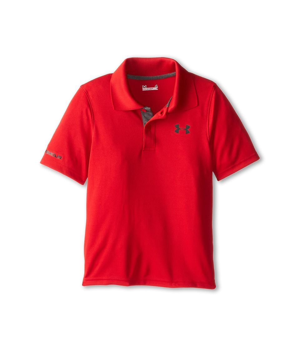 Under Armour Kids - Match Play Polo (Little Kids/Big Kids) (Red) Boys Short Sleeve Pullover