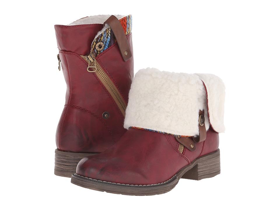 Rieker Antistress 95891 Felicia 91 (Vino) Women's Boots