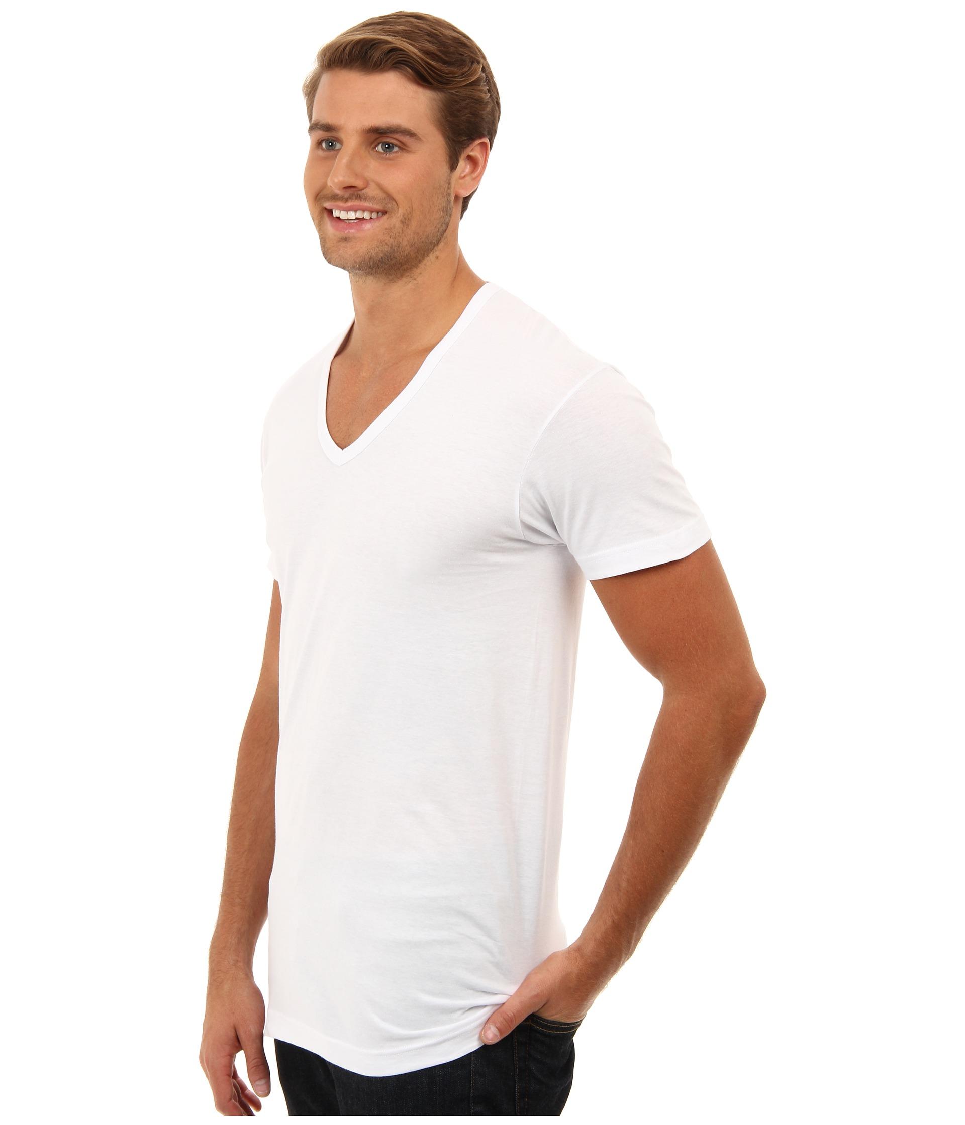 2 x ist 3 pack essential slim fit v neck t shirt zappos for Slim v neck t shirt