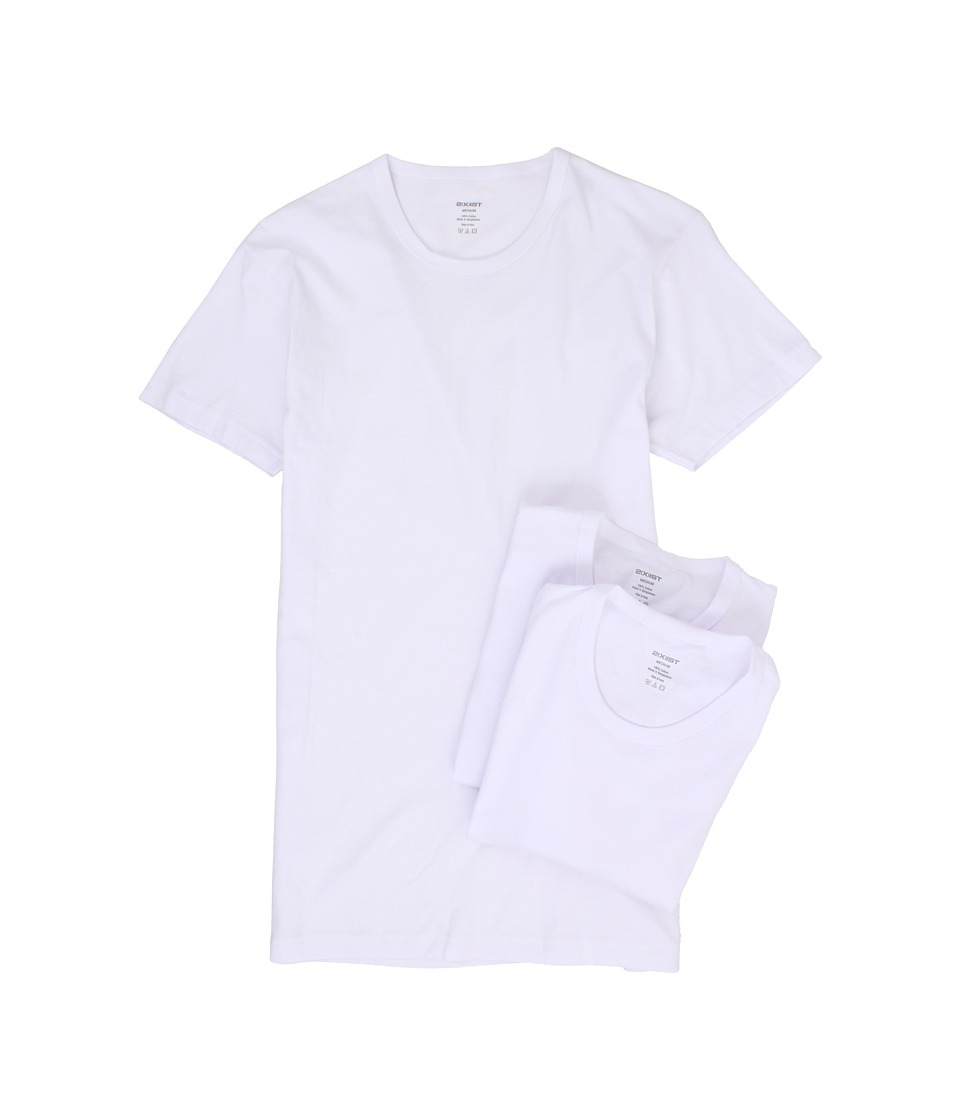 2(X)IST - 3-Pack ESSENTIAL Slim Fit Crew Neck T-Shirt (White) Mens T Shirt