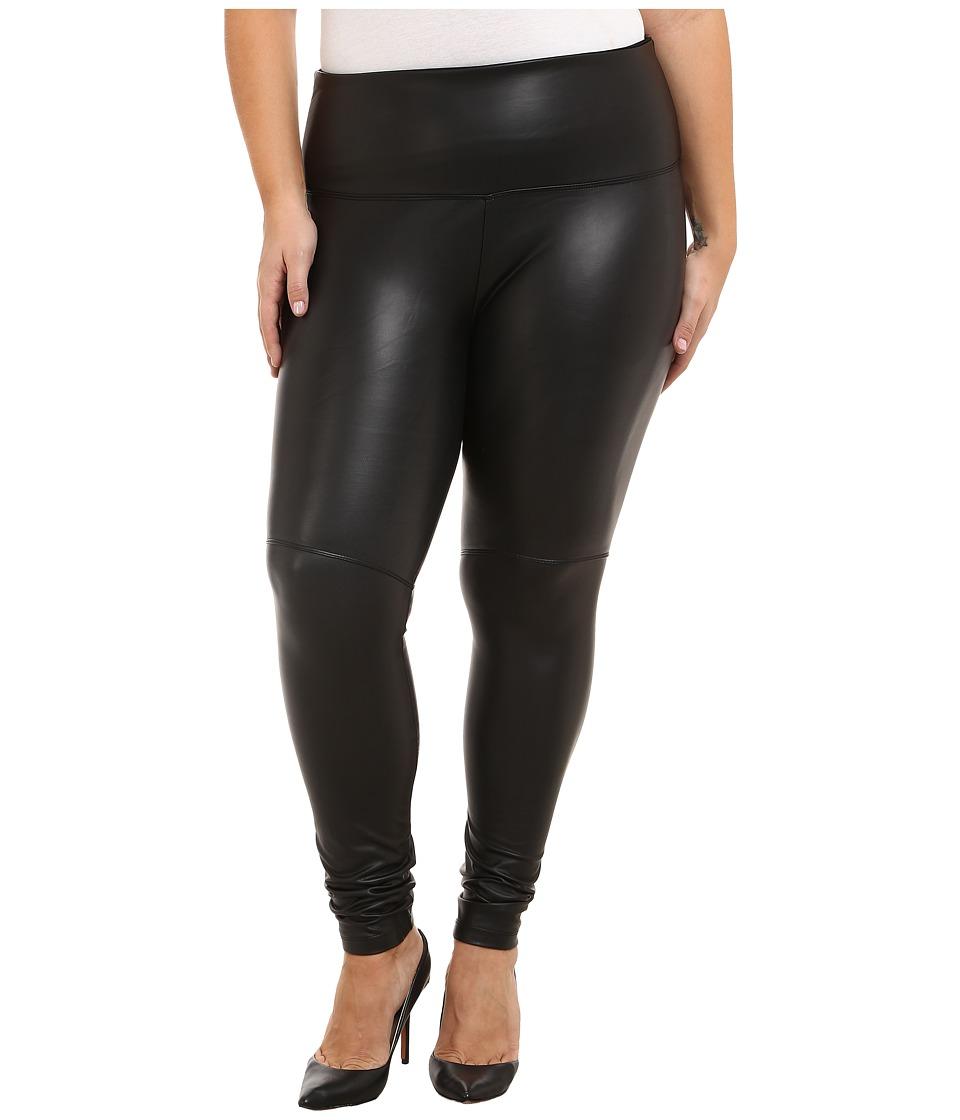 Lysse Plus Size Vegan Leather Legging (Black) Women's Cas...