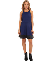 Rampage - PU Trim Skater Dress