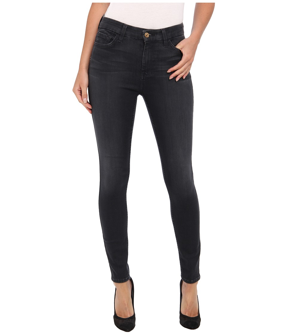 7 For All Mankind - The High Waist Ankle Skinny w/ Contour Waistband in Bastille Grey (Bastille Grey) Womens Jeans