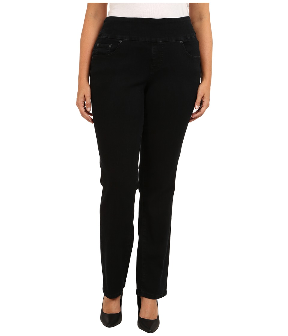 Jag Jeans Plus Size Plus Size Peri Pull On Straight in Black Void Black Void Womens Jeans