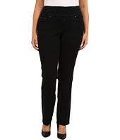 Jag Jeans Plus Size - Plus Size Peri Pull-On Straight in Black Void