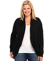 DKNY Jeans - Plus Size Solid Two-Pocket Cardigan