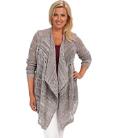 DKNY Jeans - Plus Size Open Stitch Cardigan