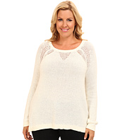 DKNY Jeans - Plus Size Sequin Pullover w/ Placed Mesh