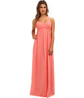 Jessica Simpson - Spaghetti Strap Gown w/ Ruched Bodice and Pleating at Front and Back Dress