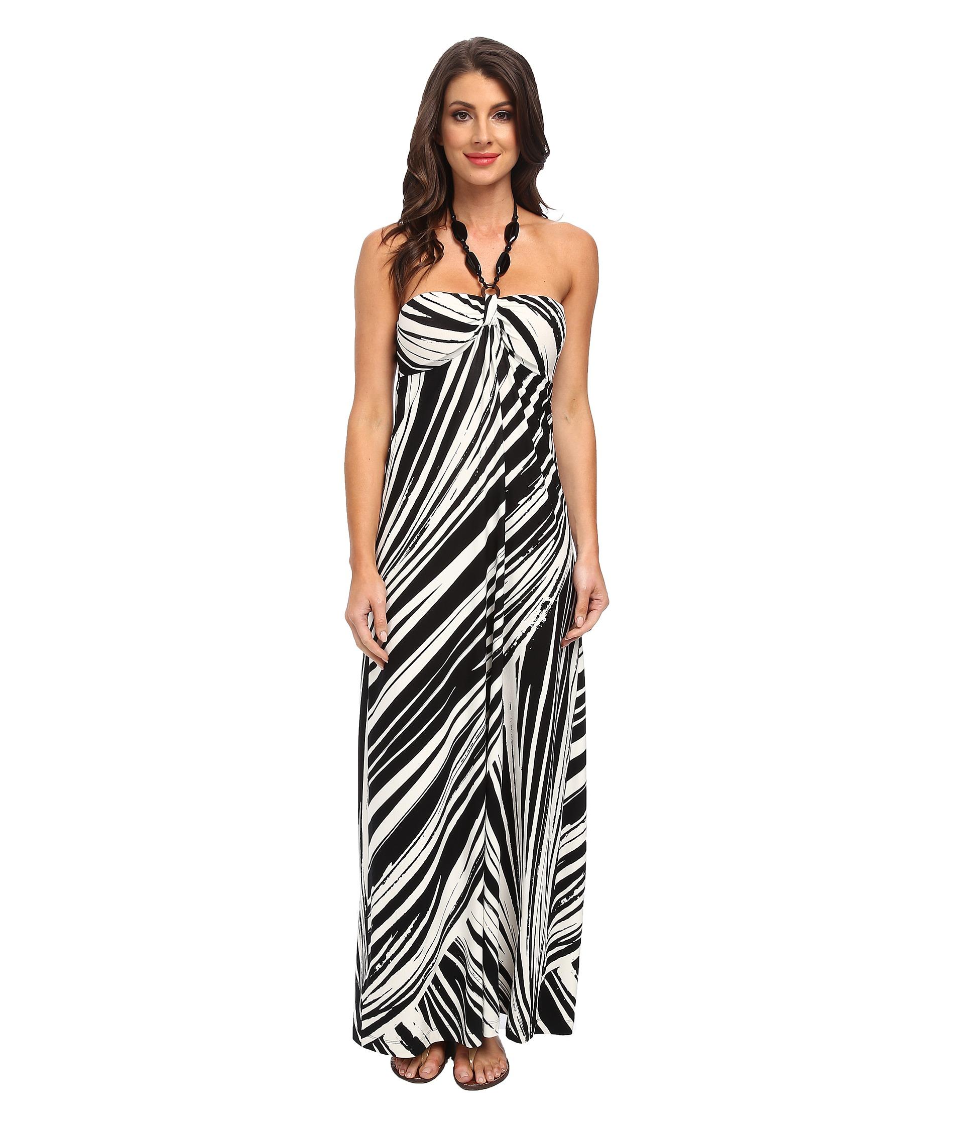 Tommy Bahama Cala Winds Long Dress Black