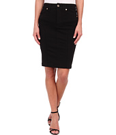 7 For All Mankind - Fashion High Waist Seamed Doubleknit Pencil Skirt in Black Doubleknit