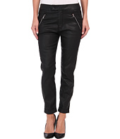 7 For All Mankind - Slant Zip Soft Pant in Black Coated Twill