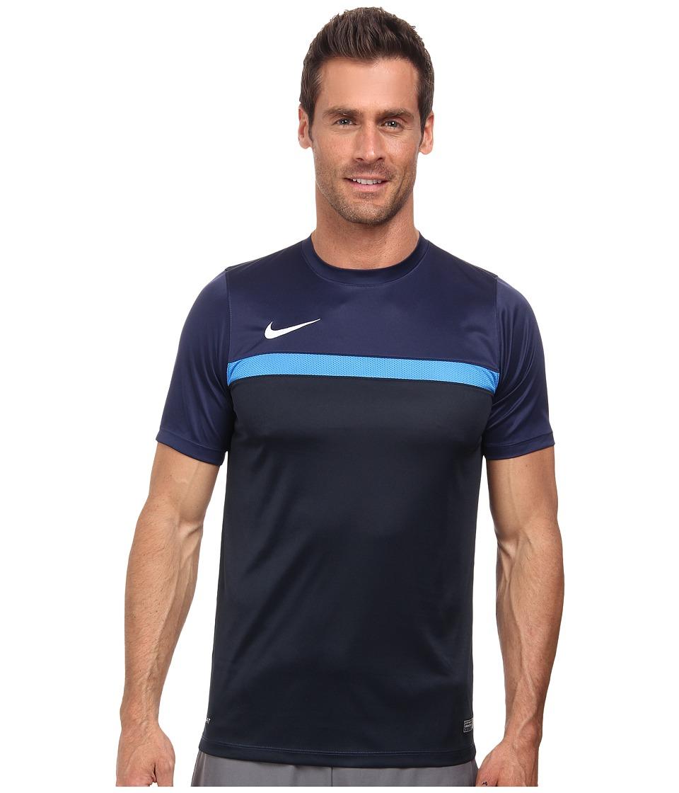 Nike Academy S/S Training Top 1 (Midnight Navy/Light Photo Blue/Dark Obsidian/White) Men