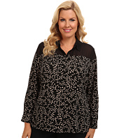 TWO by Vince Camuto - Plus Size Tossed Crescent Blouse