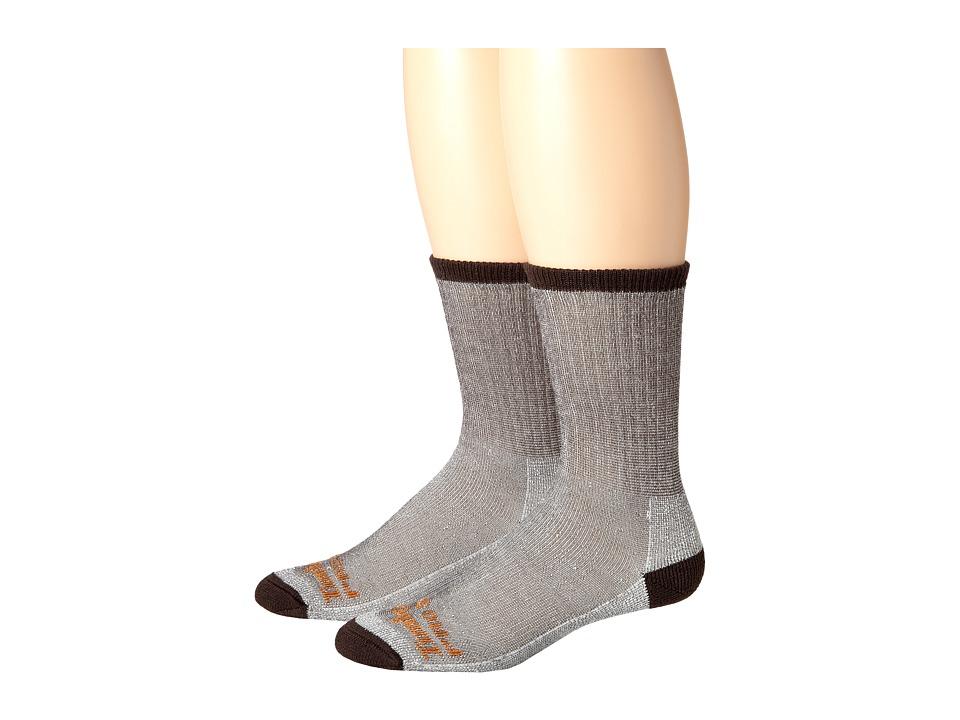Timberland - TPS31408 Crew 2-Pair Pack (Brown) Men's Crew Cut Socks Shoes