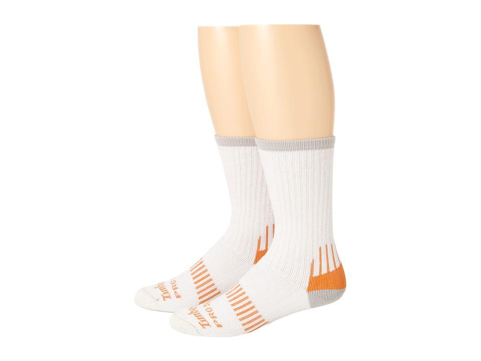 Timberland - TPS31412 Crew 2-Pair Pack (White) Men's Crew Cut Socks Shoes