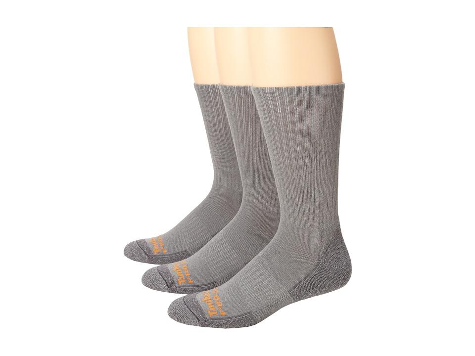 Timberland - TPS31410 Crew 3-Pair Pack (Grey) Men's Crew Cut Socks Shoes