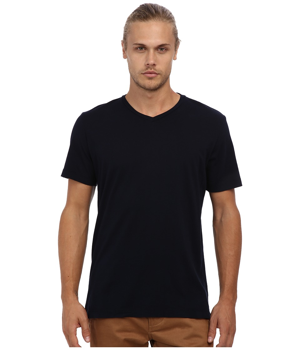 Velvet by Graham amp Spencer Whisper Jersey V Neck T Shirt Midnight Mens Short Sleeve Pullover
