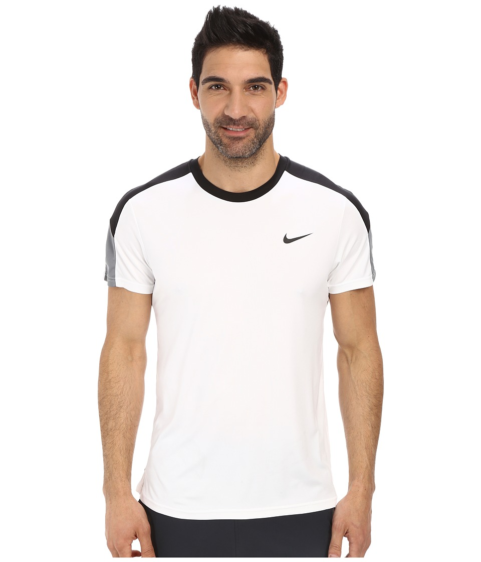 Nike Court Tennis Shirt (White/Black/Cool Grey/Black) Men