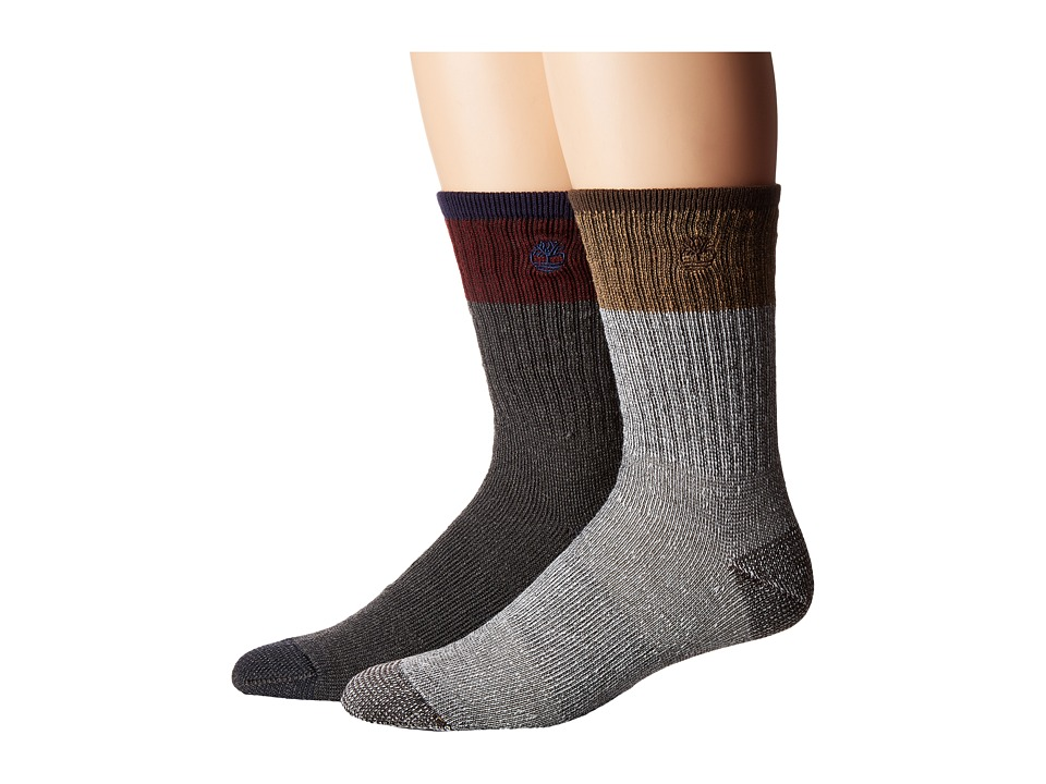 Timberland - TM31192 Wool Crew 2-Pair Pack (Assorted) Men's Crew Cut Socks Shoes