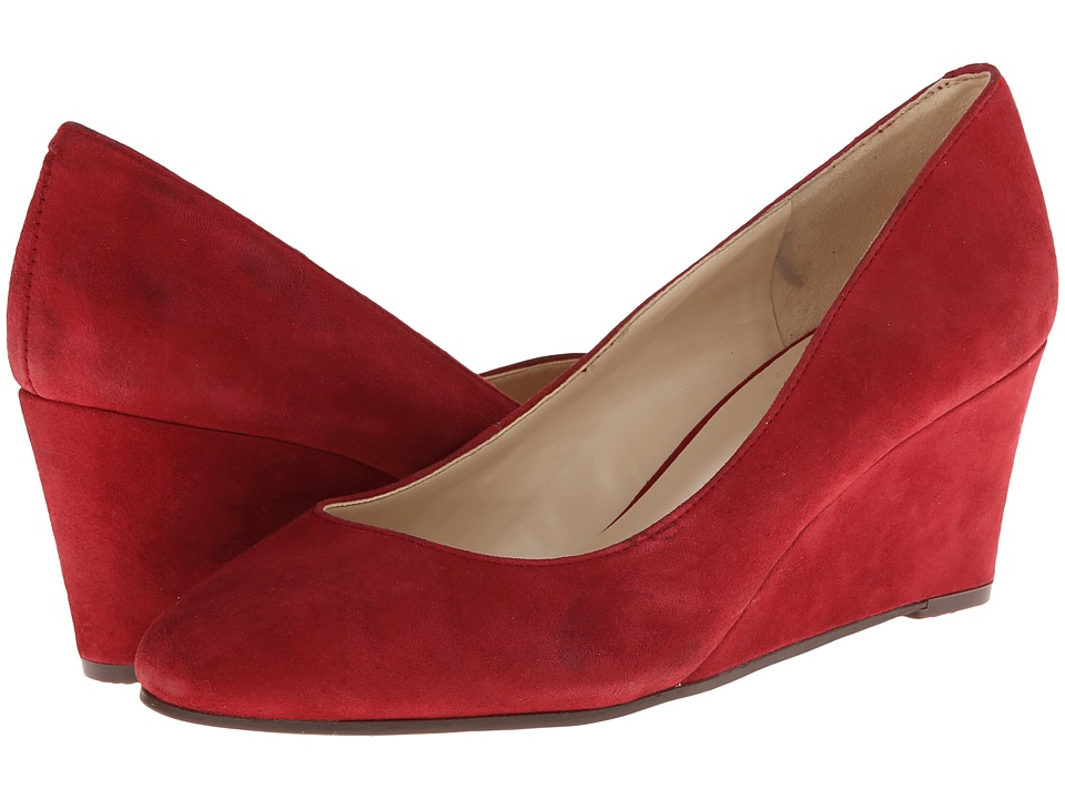 Nine West ISpy (Red Suede) Women's Slip on Shoes
