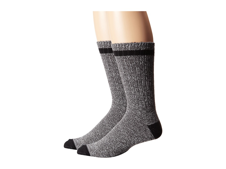 Timberland - TM31036 Rugged Cotton Crew 2-Pair Pack (Grey) Men's Crew Cut Socks Shoes