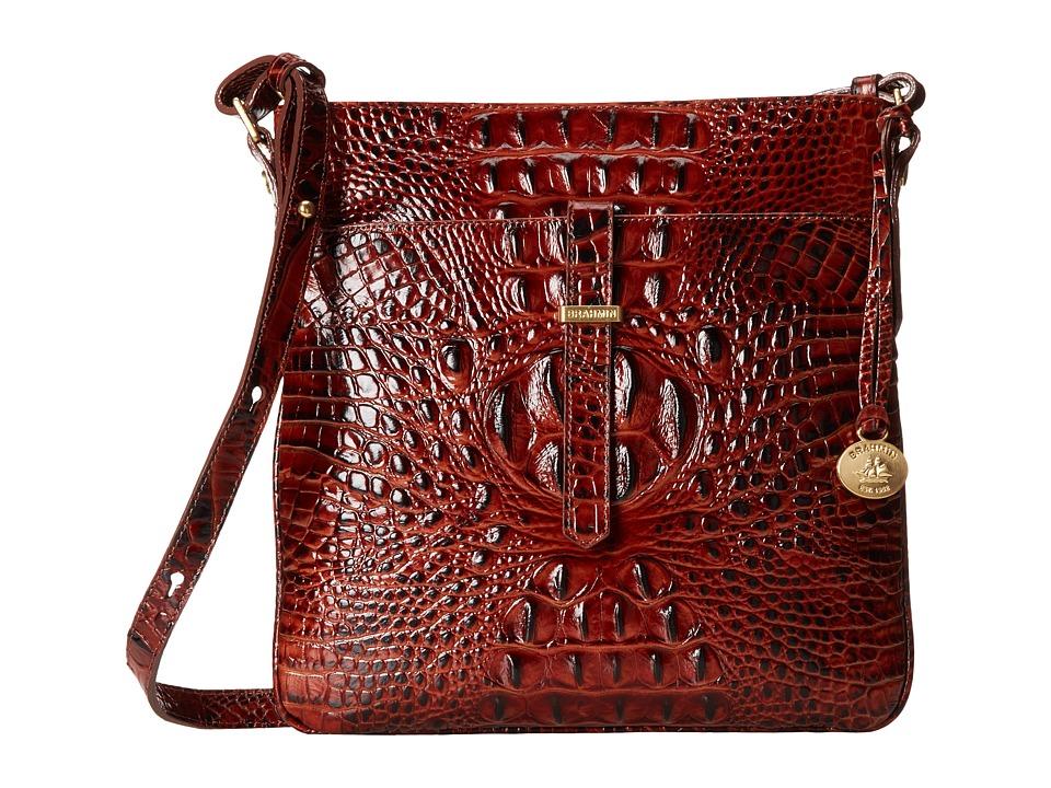 Brahmin All Day Crossbody Pecan Cross Body Handbags
